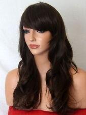 Wavy Brown Long Womens Ladies Fashion real natural cosplay full hair Wig P-4