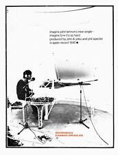 "1971 John Lennon  ""Imagine""  Song Release Reproduction Print Ad"