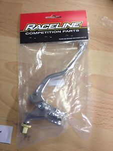 RACELINE UNIVERSAL SILVER SHORT MOTOCROSS MX CLUTCH LEVER & PERCH ASSEMBLY
