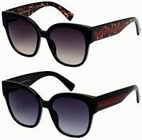 Designer Cat Eye Flat Vintage Square Big Sunglasses Retro UV400 Ladies Women