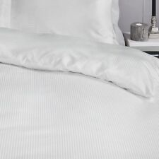 Catherine Lansfield White Satin Stripe 300 Thread Count Quality Hotel Bedding Single