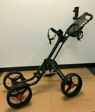 Black CaddyTek CaddyCruiser ONE V2 One-Click Folding 4 Wheel Golf Push Cart