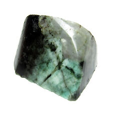 141.00Cts Untreated Rough Shaped Natural Green Emerald Brazilian Gemstone CH6189