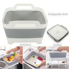 Collapsible Sink Dish Drainer Dish Wash Tub Space Saving Caravan Boat Camping