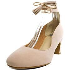 Zapatos de tacón de mujer de tacón medio (2,5-7,5 cm) de color principal rosa de ante