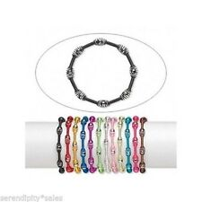 Lot of 12 Steel Coil Stretch Bracelet Anklet MIXED Colors 3mm ~ Bright + Fun!
