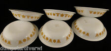 "6 Butterfly Gold flowers 5.25"" Rare small berry BOWLS vintage Pyrex Corelle"
