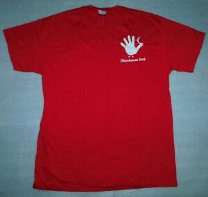 Thanksman 2016 Christmas Turkey Glitter Fruit Loom Red T-Shirt Adult Men Women L