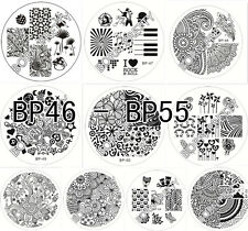 10x Nagel Schablone BORN PRETTY BP46-55 Nail Art Stamp Stamping Template Plates