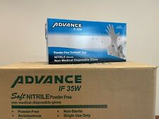 Advance Nitrile Gloves Powder Free White Case Of 1000 PCs Small