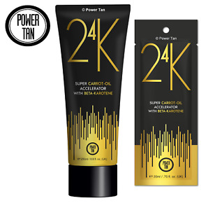 Power Tan 24K Super Carrot Oil Sunbed Lotion Cream Accelerator Tube or Sachet