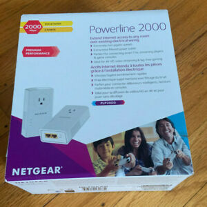 NEW NETGEAR PLP2000  Powerline Adapter 2000Mbps - Pack of 2 *In good Condition*