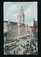 Staffordshire Staffs WALSALL Town Hall Tram Used 1906 PPC