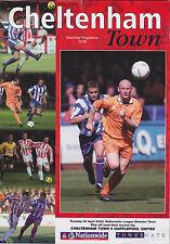 Football Programme>CHELTENHAM TOWN v HARTLEPOOL UNITED Apr 2002 Play-Off SF