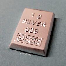 1 Gramm Silberbarren (1g Silber 999 ESG Valcambi Barren Geburtstag Geschenk)