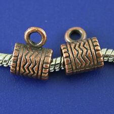 30pcs copper-tone bail charm fit europen bracelet h2171