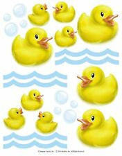 Yellow Rubber Ducky Removable Stickers Tile Glass Bath Room Duck Decor IdeaStix