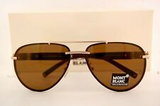 Brand New MONT BLANC Sunglasses MB 404 404S 29J GOLD/BROWN for Men