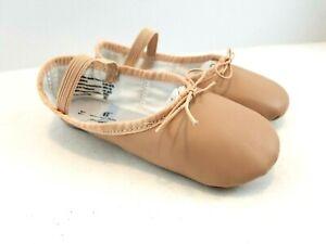 ABT Girls Ballet Dance Shoes Leather Toddler Size 9.5 12 Spotlights Dancing