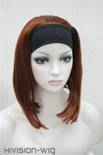 Fashion Daily wig Fox Red Cute Short Women Lady 3/4half-Wig with headband TLD328