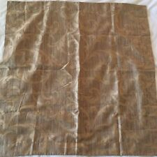 Peacock Alley Couture Scroll Gold Brown Euro Sham Egyptian Cotton EUC