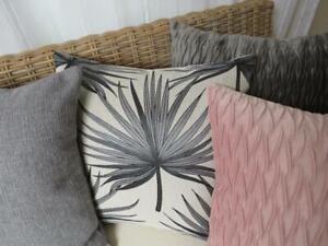 Home Mix & Match Grey & Pink Brocade & Velvet Sofa Pillow Case Cushion Cover 45