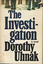 THE INVESTIGATION ~ Dorothy Uhnak 1977 HC DJ BCE