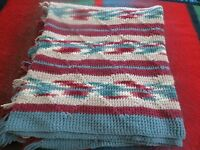 """southwest type afghan throw 78"""" x 44"""" approx."""