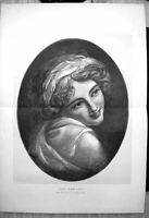 Original Old Antique Print Portrait Lady Hamilton George Romney