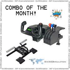 Combo - Saitek Pro Flight Yoke System + VKB T-Rudder