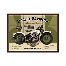 Harley Davidson Classic Knucklehead Motorcycle Bike Novelty Fridge Magnet