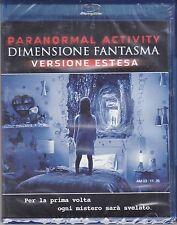 Blu-ray **PARANORMAL ACTIVITY ♦ DIMENSIONE FANTASMA** Versione Estesa nuovo 2015