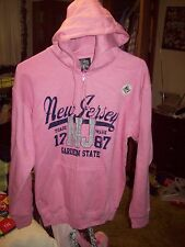 NWT Woman's Salt Creek Pink Zipper Front Hoodie  Size M  Built in MP3 Pocket