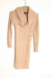 Lipsey Womens Cable Knit Jumper Dress - MISSING BELT - Size 8 (21-y9)