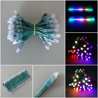 New WS2811 RGB LED Pixel Full Color Diffused Light Round Green Wire 5V 12V IP68