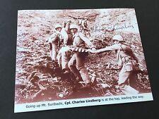 Charles W. Lindberg († 2007) WWII Battle of Iwo Jima SIGNED FOTO rarità 10x13