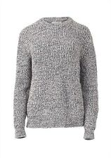 Brown/Grey Knit Jumper Sweater (Medium)