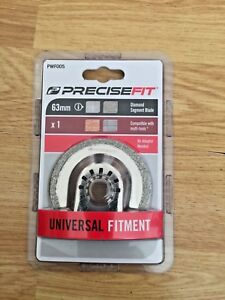 PreciseFit Universal Fit Multi-Tool Diamond Blade - 63mm - No Adapter Needed