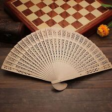 Hollow Fragrant Carved Wedding Party Wooden Chinese Style Folding Fan Bamboo