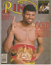 FRANK TATE/MICHAEL OLAJIDE Ring Boxing Magazine February 1988 MIKE TYSON/BIGGS