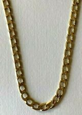 9ct Gold Flat Curb Chain 9ct Yellow Gold Flat Curb Link Chain 20 Inch 3mm Wide