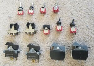 Assorted Electrical Switches - including Rockers, Toggle, SPST DPDT etc.