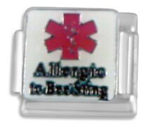 Medical sign Allergic to bee stings Italian charm - 9mm link classic (BB33)