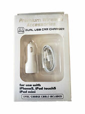 Premium Wireless Car Charger and Sync Cable for iPhone 5/6/7/8/X