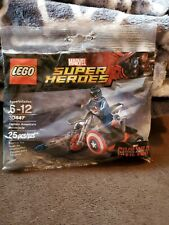 Lego - Captain America's Motorcycle - 30447 - Factory Sealed Polybag