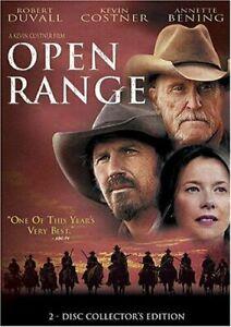 Like New WS DVD Open Range Robert Duvall Kevin Costner Annette Bening 2 Disc Set