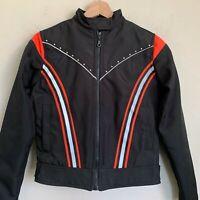 Biker Design USA Moto Jacket Womens Black Zip Water Resistant Lined Size S