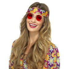 Hippie SPECIALI ANNI 60 Hippy rétro '60 Accessorio Vestito Donna Uomo Rosso