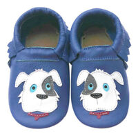 Soft Sole Leather Baby Crib Shoes Boy Infant Prewalk Kids Moccasin Puppy 0-6M