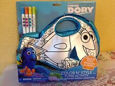 DISNEY FINDING DORY PURSE COLOR N STYLE ACTIVITY MARKERS & GEMS KIDS